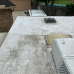 RV travel trailer roof inspection